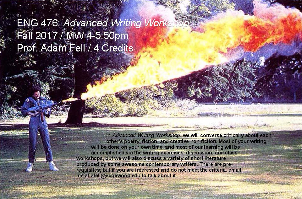 Advanced Writing Workshop Poster